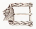 "Luxury Accessories:Accessories, Kieselstein Cord Sterling Silver Cat Belt Buckle . Very GoodCondition . 2"" Width x 1.5"" Height . ..."