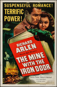 "The Mine with the Iron Door (Columbia, R-1952). One Sheet (27"" X 41""). Western"