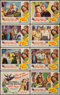 "Movie Posters:Adventure, Sinbad the Sailor (RKO, 1946). Lobby Card Set of 8 (11"" X 14"").Adventure.. ... (Total: 8 Items)"