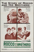 """Movie Posters:Foreign, Rocco and His Brothers (Astor, 1961). One Sheet (27"""" X 41""""). Foreign.. ..."""
