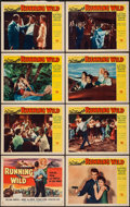 "Movie Posters:Bad Girl, Running Wild (Universal, 1955). Lobby Card Set of 8 (11"" X 14""). Bad Girl.. ... (Total: 8 Items)"