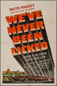 """We've Never Been Licked (Universal, 1943). One Sheet (27"""" X 41"""") Style D. War"""