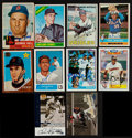 Autographs:Sports Cards, 1950's to 2000's HOFers, Stars & Regional Stars Signed Baseball Cards Lot of 330. ...