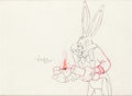 Animation Art:Production Drawing, Rhapsody Rabbit Bugs Bunny Animation Drawing by Virgil Ross (Warner Brothers, 1946)....