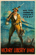 "Movie Posters:War, World War I Propaganda (U.S. Government Printing, 1919). Victory Liberty Loan Poster (20"" X 30"") ""And They Thought We Couldn..."