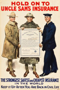 "Movie Posters:War, World War I Propaganda (Bureau of War Risk, 1919). Life InsurancePoster (20"" X 30"") ""Hold Onto Uncle Sam's Insurance."". ..."