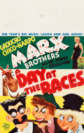 "Movie Posters:Comedy, A Day at the Races (MGM, 1937). Window Card (14"" X 21.75"").. ..."