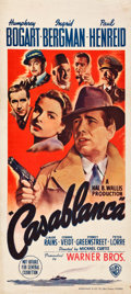 "Movie Posters:Academy Award Winners, Casablanca (Warner Brothers, 1942). Australian Daybill (13.25"" X30"").. ..."