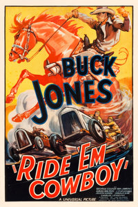 "Ride 'Em Cowboy (Universal, 1936). One Sheet (27"" X 41"")"