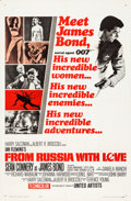 "Movie Posters:James Bond, From Russia with Love (United Artists, 1964). One Sheet (27"" X 41"")Style A.. ..."