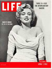 "Marilyn Monroe Life Magazine (Life Magazine, 1952). Point of Purchase Poster (27.25"" X 35.5"")"