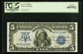 Large Size:Silver Certificates, Fr. 277 $5 1899 Silver Certificate PCGS Gem New 66PPQ.. ...