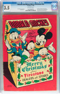 Golden Age (1938-1955):Cartoon Character, Donald and Mickey Merry Christmas #nn (K. K. Publications, Inc.,1949) CGC VG- 3.5 Off-white pages....