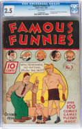 Platinum Age (1897-1937):Miscellaneous, Famous Funnies #3 (Eastern Color, 1934) CGC GD+ 2.5 Brittle pages....