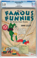 Platinum Age (1897-1937):Miscellaneous, Famous Funnies #11 (Eastern Color, 1935) CGC GD/VG 3.0 Brittlepages....
