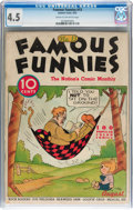 Platinum Age (1897-1937):Miscellaneous, Famous Funnies #13 (Eastern Color, 1935) CGC VG+ 4.5 Cream tooff-white pages....