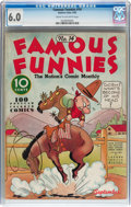 Platinum Age (1897-1937):Miscellaneous, Famous Funnies #14 (Eastern Color, 1935) CGC FN 6.0 Cream tooff-white pages....