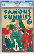 Platinum Age (1897-1937):Miscellaneous, Famous Funnies #18 (Eastern Color, 1936) CGC FN+ 6.5 Off-white towhite pages....
