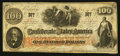 Confederate Notes:1862 Issues, T41 $100 1862 PF-28 Cr. UNL.. ...