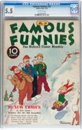 Platinum Age (1897-1937):Miscellaneous, Famous Funnies #19 (Eastern Color, 1936) CGC FN- 5.5 Off-whitepages....