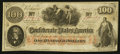 Confederate Notes:1862 Issues, T41 $100 1862 PF-53 Cr. 325A.. ...