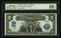 Large Size:Silver Certificates, Fr. 254 $2 1899 Silver Certificate PMG Gem Uncirculated 66 EPQ.....
