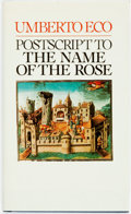 Books:Books about Books, Umberto Eco. Postscript to the Name of the Rose. Harcourt Brace Jovanovich, [1984]. First Edition....