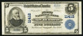 National Bank Notes:Wisconsin, New Richmond, WI - $5 1902 Plain Back Fr. 606 The First NB Ch. # 11412. ...
