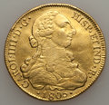 Chile, Chile: Charles IV gold 8 Escudos 1805 So-FJ VF Cleaned,...