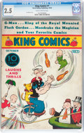 Platinum Age (1897-1937):Miscellaneous, King Comics #7 (David McKay Publications, 1936) CGC GD+ 2.5Slightly brittle pages....