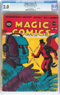 Golden Age (1938-1955):Adventure, Magic Comics #19 (David McKay Publications, 1941) CGC GD 2.0 Off-white to white pages....