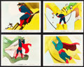 "Movie Posters:Animation, Superman Cartoon (Paramount, 1941). Color Glos Photos (4) (8"" X10"").. ... (Total: 4 Items)"