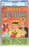 Golden Age (1938-1955):Miscellaneous, Super Comics #4 (Dell, 1938) CGC FN 6.0 Off-white to white pages....