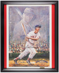 Baseball Collectibles:Others, Ted Williams Signed Lithograph - Also Signed by Artist GeneLocklear....