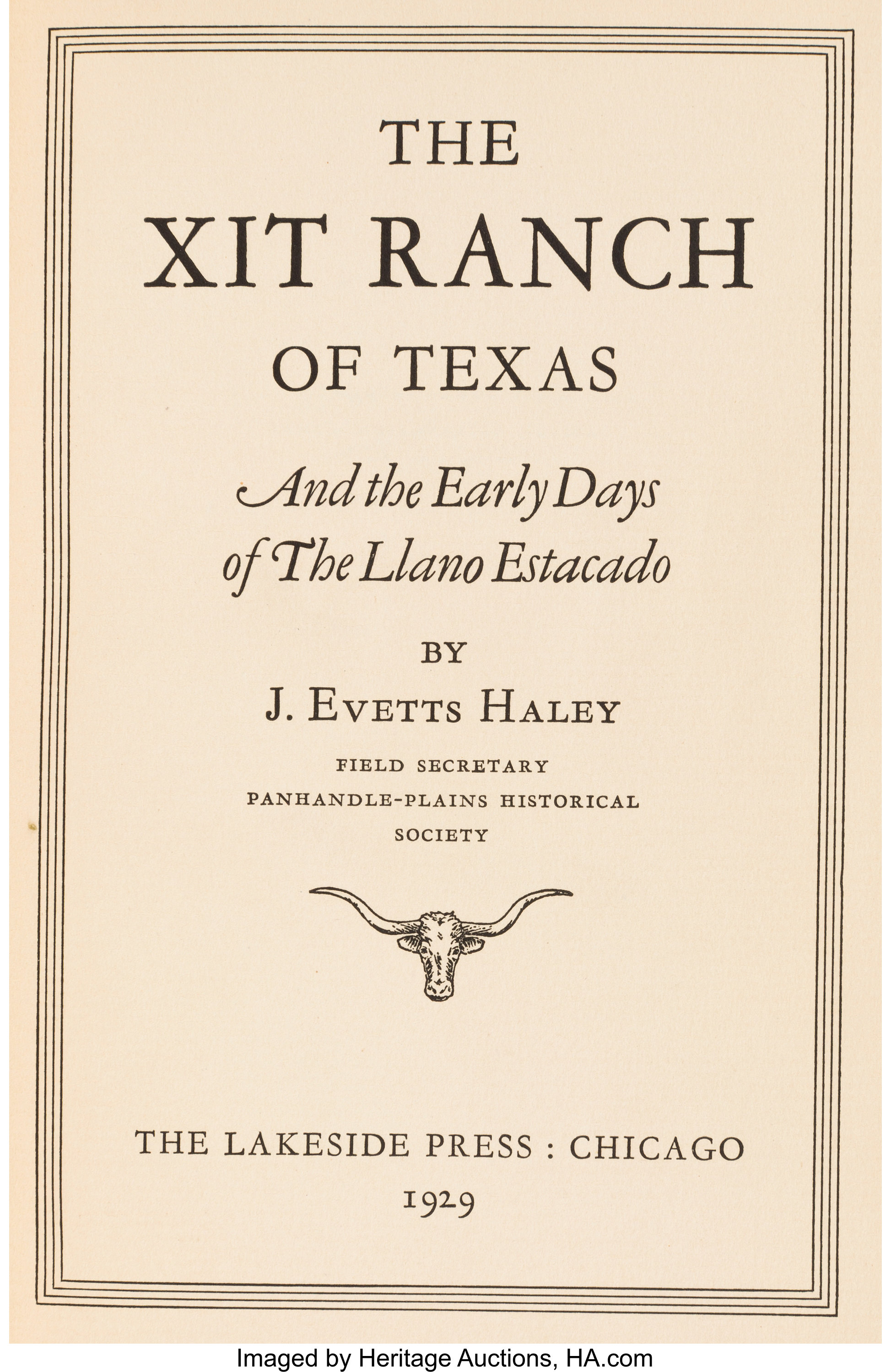 Map Of Xit Ranch Texas.J Evetts Haley The Xit Ranch Of Texas Autographs Authors Lot