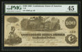 "Confederate Notes:1862 Issues, ""Bogus Back"" T39 $100 1862 PF-13 Cr. 294.. ..."