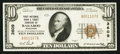 National Bank Notes:Wisconsin, Baraboo, WI - $10 1929 Ty. 1 The First NB & TC Ch. # 3609. ...