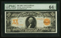 Large Size:Gold Certificates, Fr. 1182 $20 1906 Gold Certificate PMG Choice Uncirculated 64 EPQ.. ...