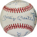 Autographs:Baseballs, Circa 1990 500 Home Run Club Multi Signed Baseball. ...