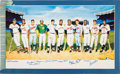 Autographs:Others, 1988 500 Home Run Club Signed Lithograph....