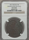 Mexico, Mexico: Revolutionary. Oaxaca Sud copper 8 Reales 1813 XF45 BrownNGC,...