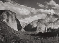 ANSEL ADAMS (American, 1902-1984) Valley View of Wawoma Tunnel, Yosemite National Park, 1936 Gelatin