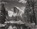 Photographs, ANSEL ADAMS (American, 1902-1984). Half Dome, Merced River, Winter, Yosemite Valley, 1938. Gelatin silver, circa 1960. 7...