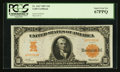 Large Size:Gold Certificates, Fr. 1167 $10 1907 Gold Certificate PCGS Superb Gem New 67PPQ.. ...