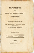 Books:Americana & American History, Duane, William: EXPERIENCE THE TEST OF GOVERNMENT: IN EIGHTEENESSAYS. WRITTEN DURING THE YEARS 1805 AND 1806. TO AID THE IN...