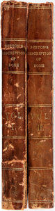 Books:Travels & Voyages, Edward Burton. A Description of the Antiquities and Other Curiosities of Rome: From Personal Observations During A Visit... (Total: 2 Items)