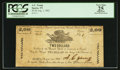 Obsoletes By State:Tennessee, Sparta, TN- A.C. Young at the Branch Bank of Tennessee at Sparta $2 Aug. 1, 1862 . ...