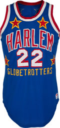 "Basketball Collectibles:Uniforms, 1979-85 Fred ""Curly"" Neal Game Worn Harlem Globetrotters Jersey...."