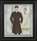 Baseball Collectibles:Others, 1914 Christy Mathewson Royal Tailors Clothing Sample Page....