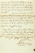 Miscellaneous:Ephemera, [Fort Sumter]. H. Brown Autograph Letter Signed....